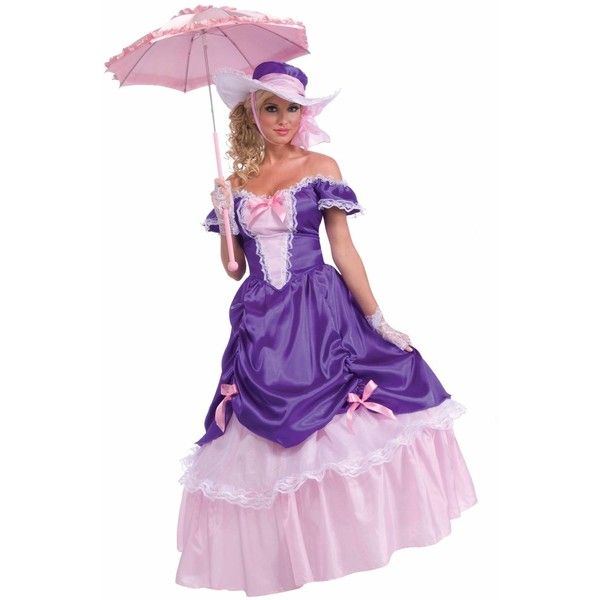 Southern Belle Women Costume - Take It Back To the Southern Times and Have a Tea Party! Blossom Southern Belle Adult Halloween Costume includes a Beautiful ...  sc 1 st  Pinterest & Blossom Southern Belle Adult Costume - One-Size (Standard) ($59 ...