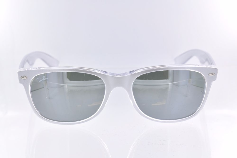 bcedabd08f Ray Ban New Wayfarer Color Mix Silver Mirror RB2132 614440 - 55  RayBan   NewWayfarer