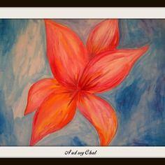 Peinture acrylique sur papier épais : série les petites elfy en fleur
