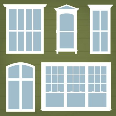 Townhouse Windows Svg Mini Pack 3 49 Svg Files For