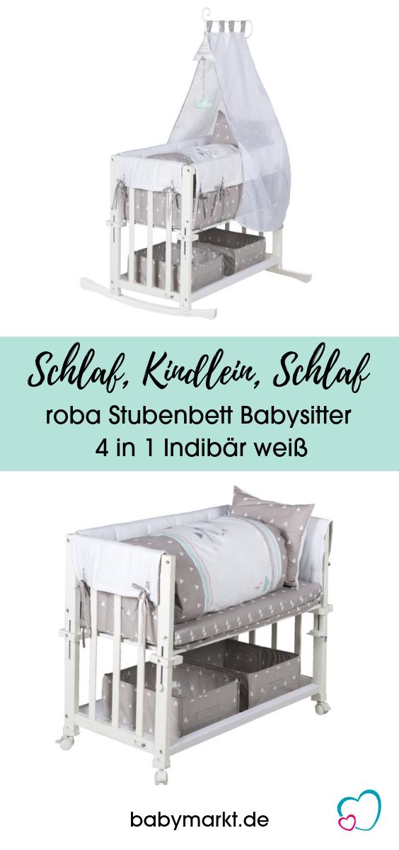 Stubenbett Roba Babysitter 4 In 1 Indibar Weiss Stubenbett Beistellbett Stube