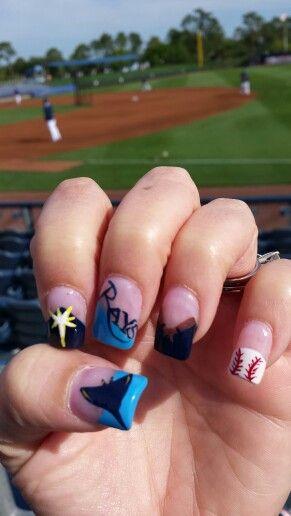 Tampa Bay Rays Nails Nails By Lindsey Pinterest