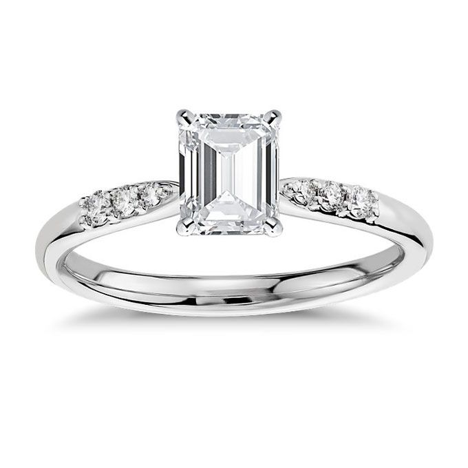 Brides Engagement Worthy Rings Under 1 500 Style 42029 Pee Diamond Ring In 14k White Gold 650 Setting Only With Up To