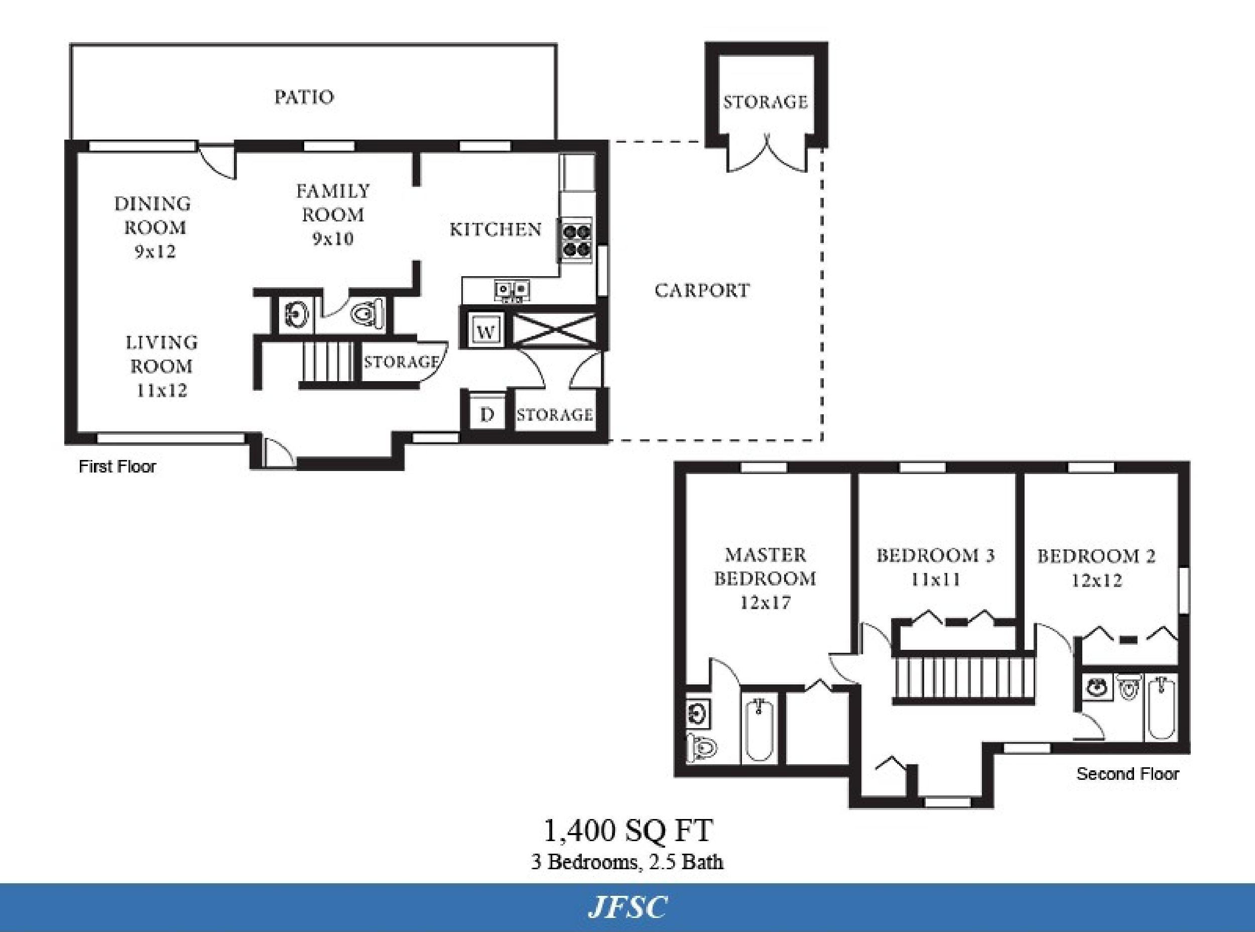 Ns Norfolk Jfsc Neighborhood 3 Bedroom 2 5 Bath Home