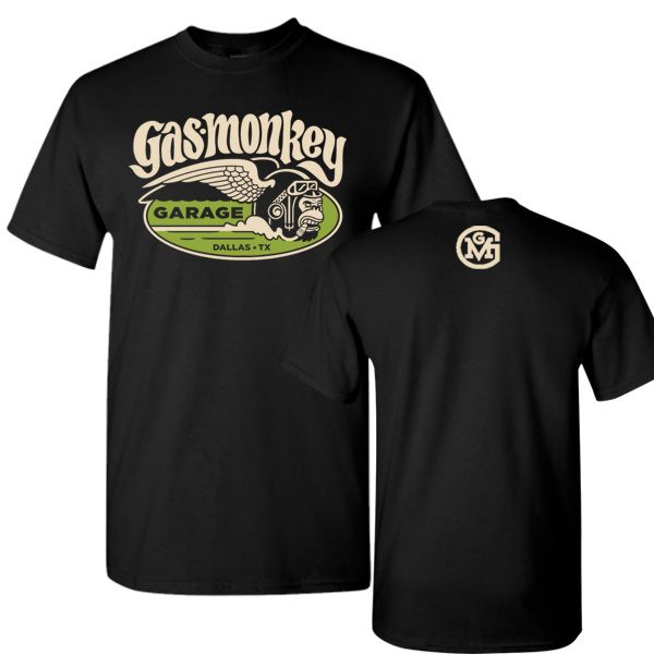 Gas Monkey Garage T-shirt: Unisex Smokin Monkey Tee