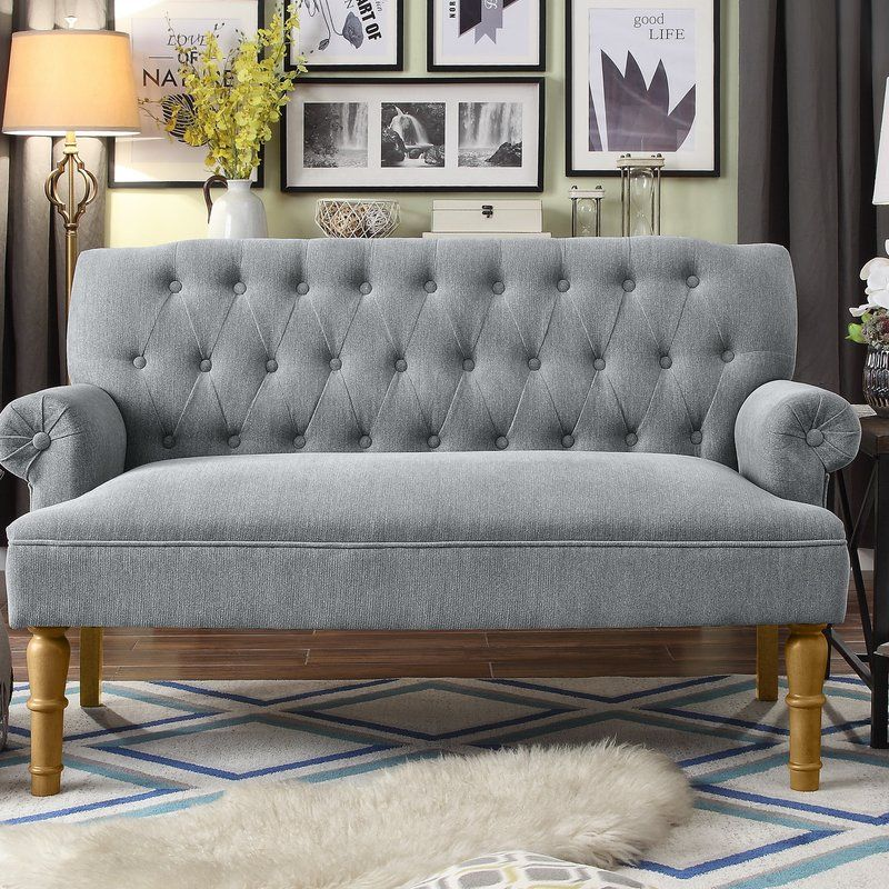 Bjorn 59 Rolled Arm Settee Love Seat Furniture Small Loveseat
