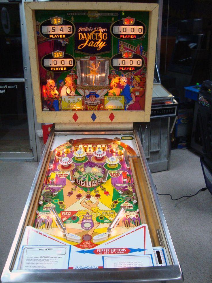 vintage gottlieb dancing lady pinball machine Google