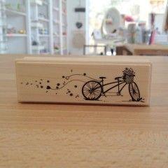 Sello de madera bici