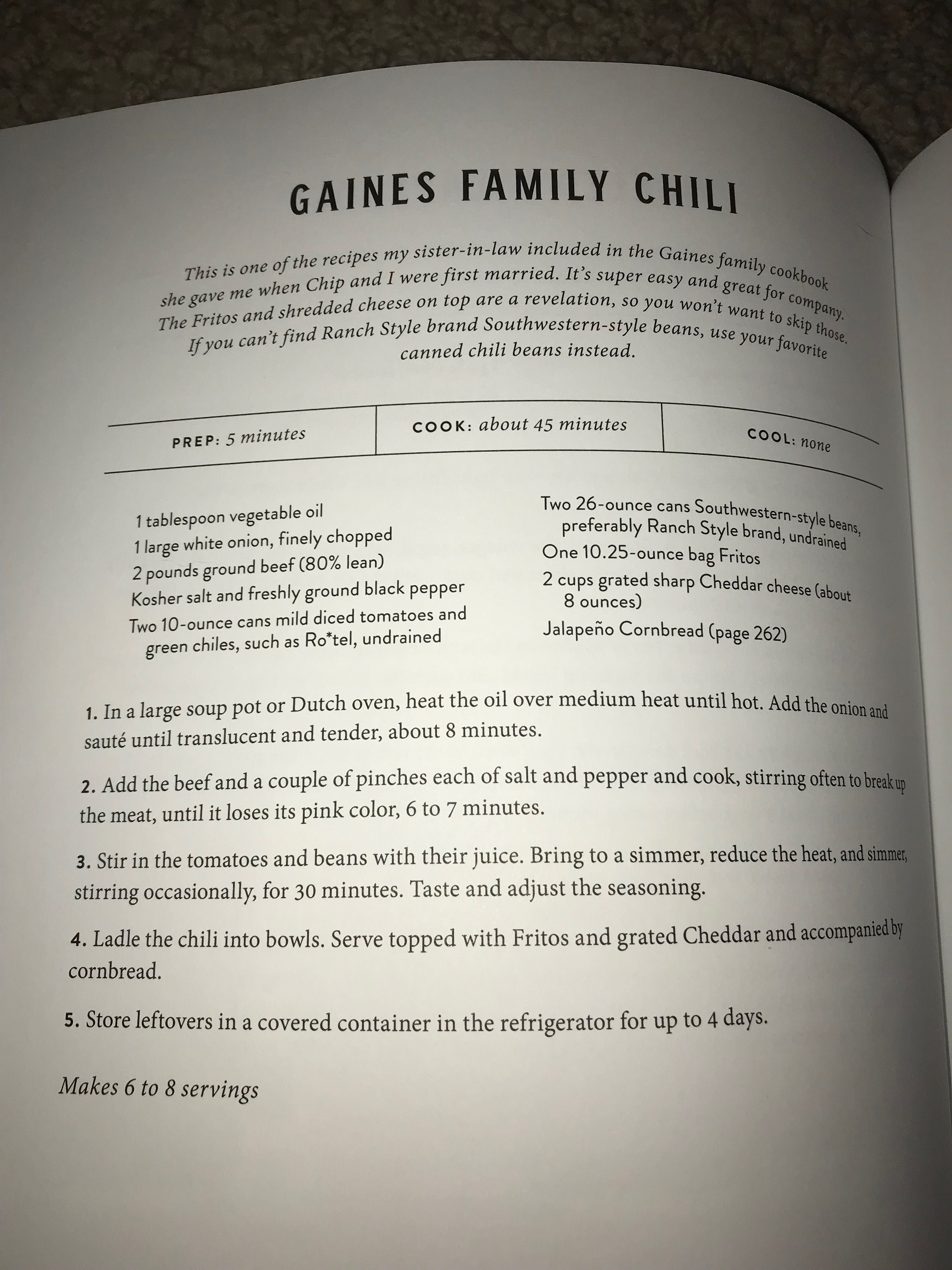 Gaines Family Chili Mexican Food Recipes Soup And