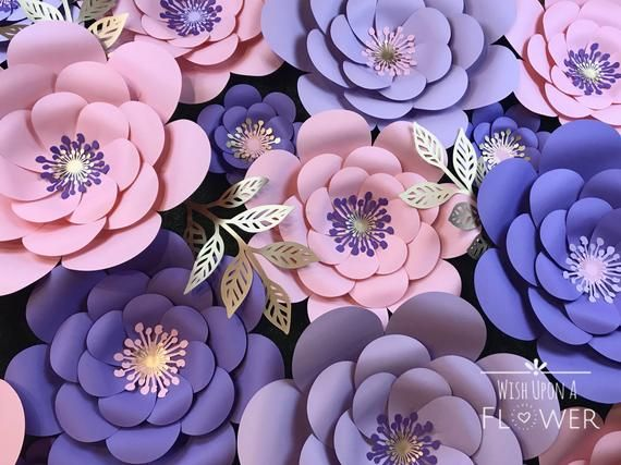 Paper Flower Kit, Paper Flowers, DIY, Paper Flower Template, Paper Flowers Wall Decor, DIY Paper Flowers, Paper Flower Wall Decor #paperflowercenterpieces