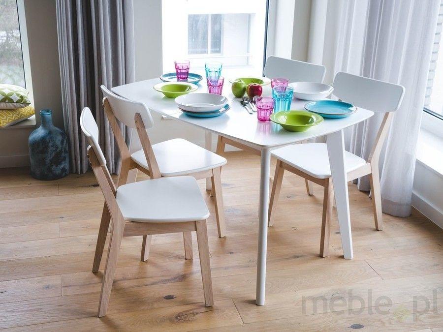 Stół Biały Do Kuchni Do Jadalni Rozkładany 120160