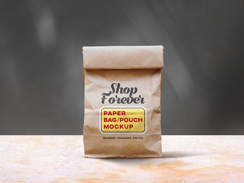 Download Paper Bag Mockup Psd Bag Mockup Paper Bag Paper Pouch