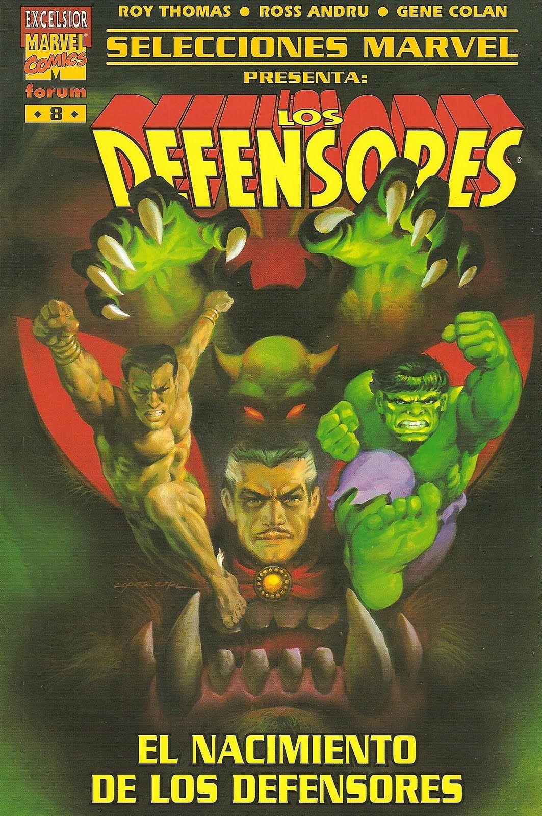 Selecciones Marvel #08 (Spanish)  - Los Defensores - Cover Art by Rafael López Espí