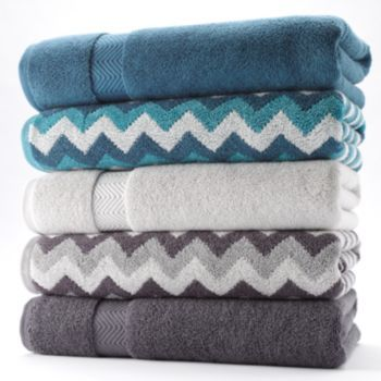 Simple By Design Solid Chevron Bath Towels Kohls101 With