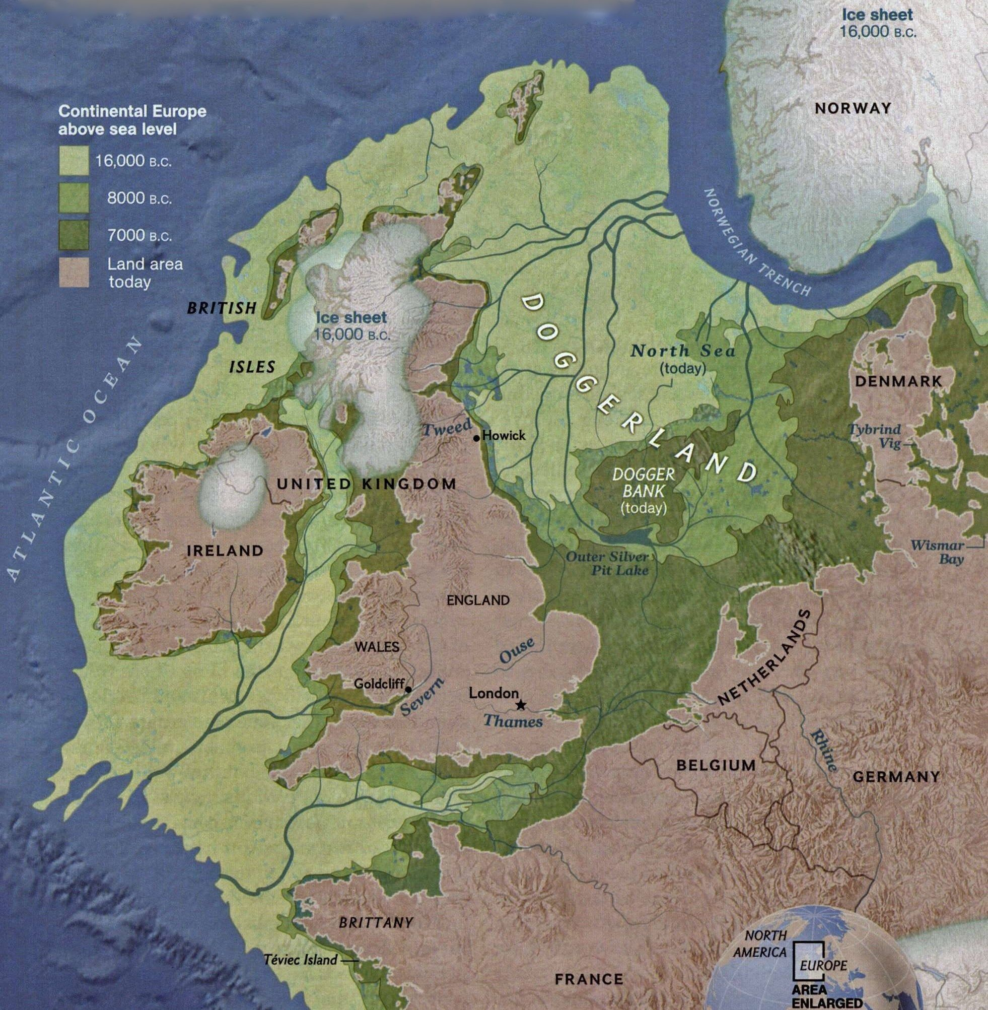 north west europe 16000 years ago