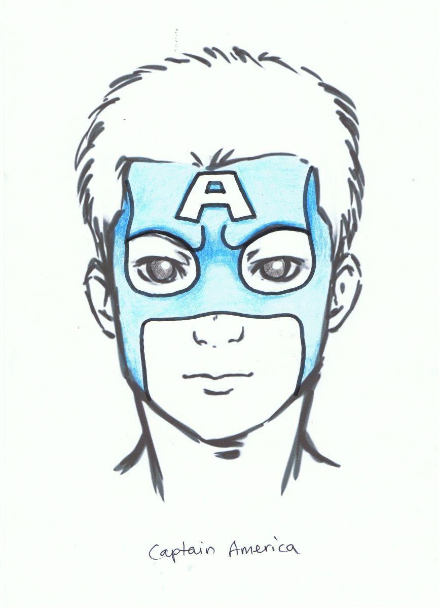 how to draw a superhero face