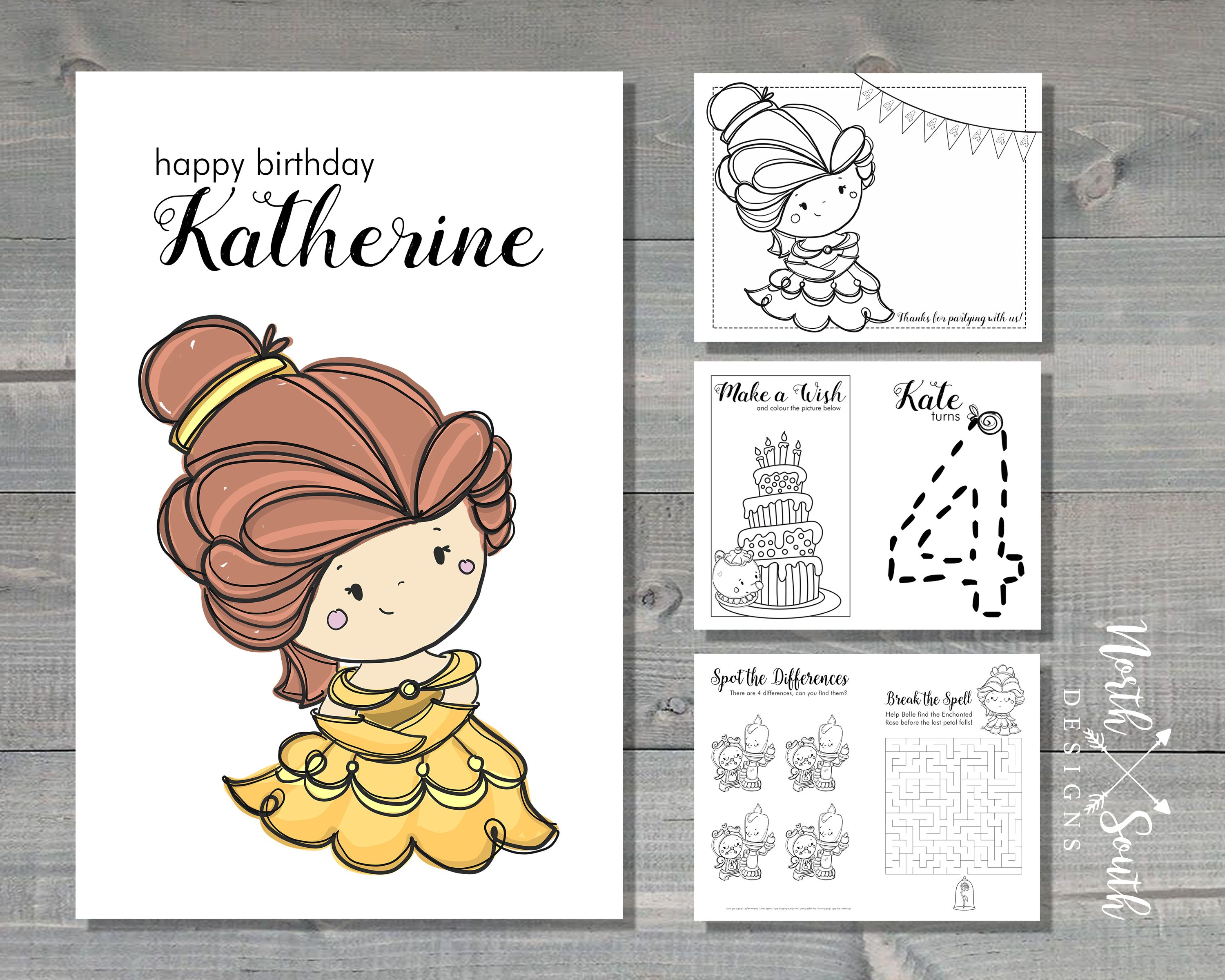 Custom Belle Activity Book
