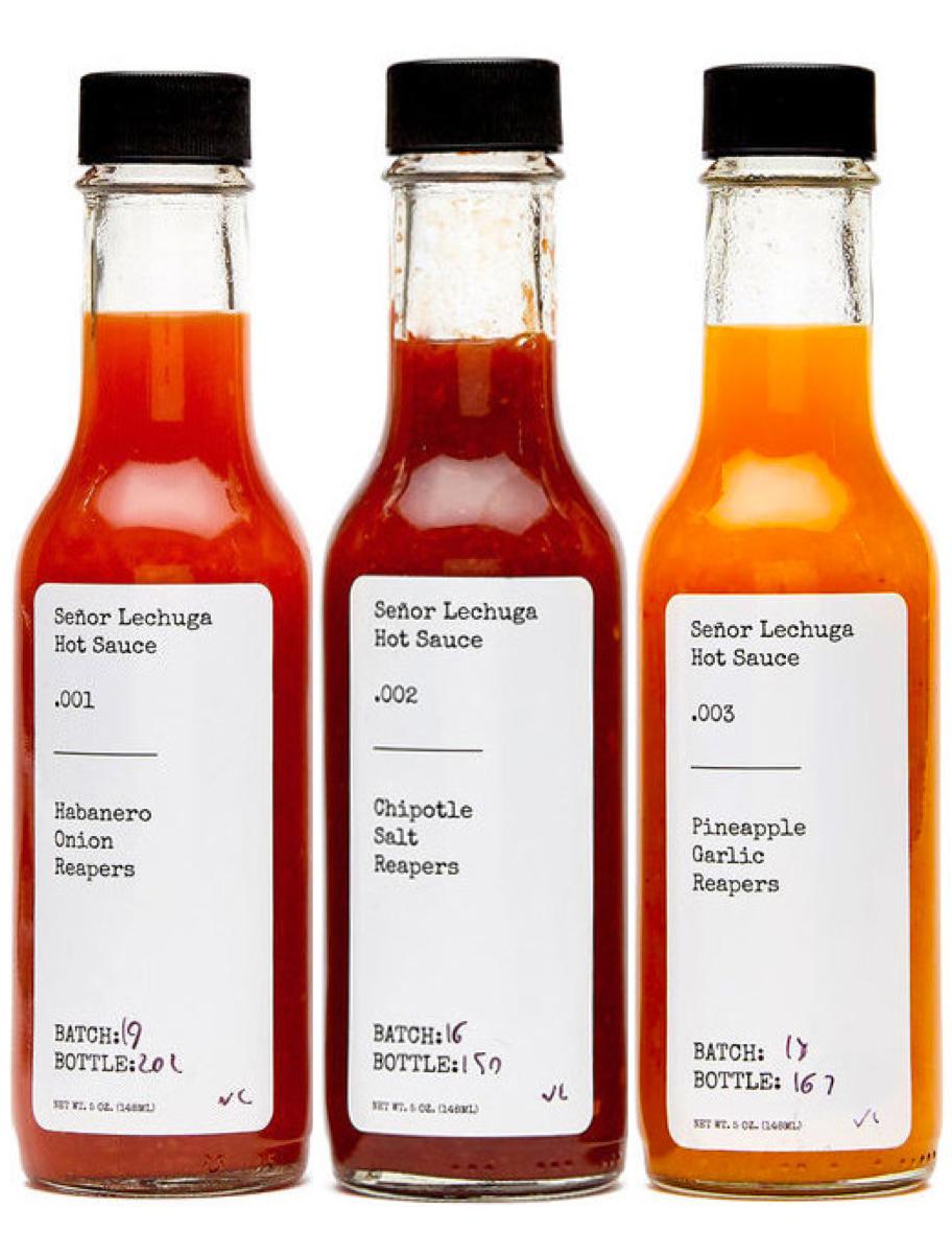 The Collection Senor Lechuga Hot Sauce Hot Sauce Packaging Hot Sauce Sauce
