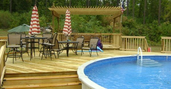 image result for coolest above ground pool decks - Above Ground Pool Privacy Screen