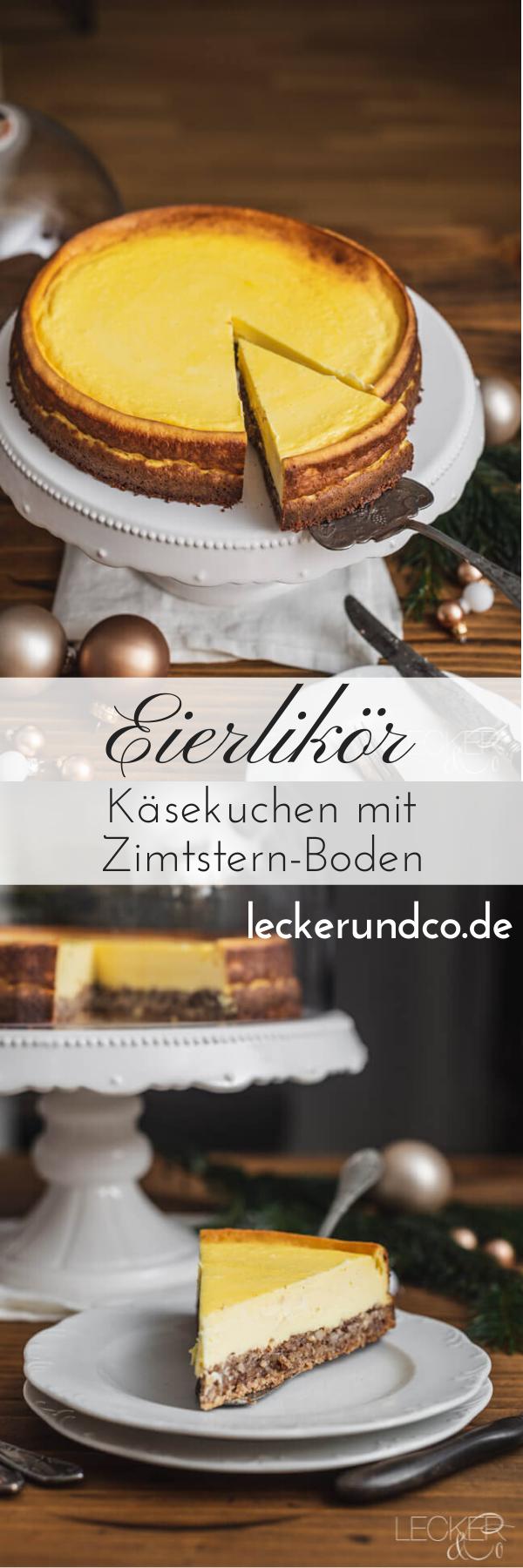 Photo of Eierlikör-Käsekuchen mit Zimtstern-Boden. #weihnachtskuchen #easter recipes di…