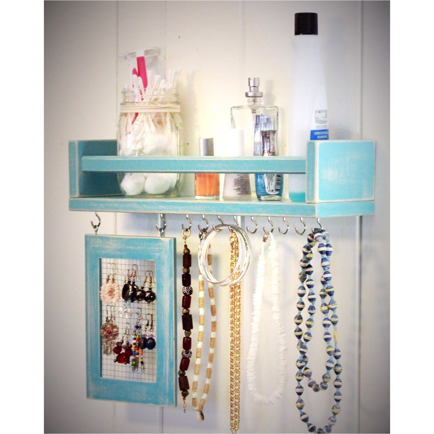 Jewelry display, storage shelf. Bathroom storage, dorm, apartment ...