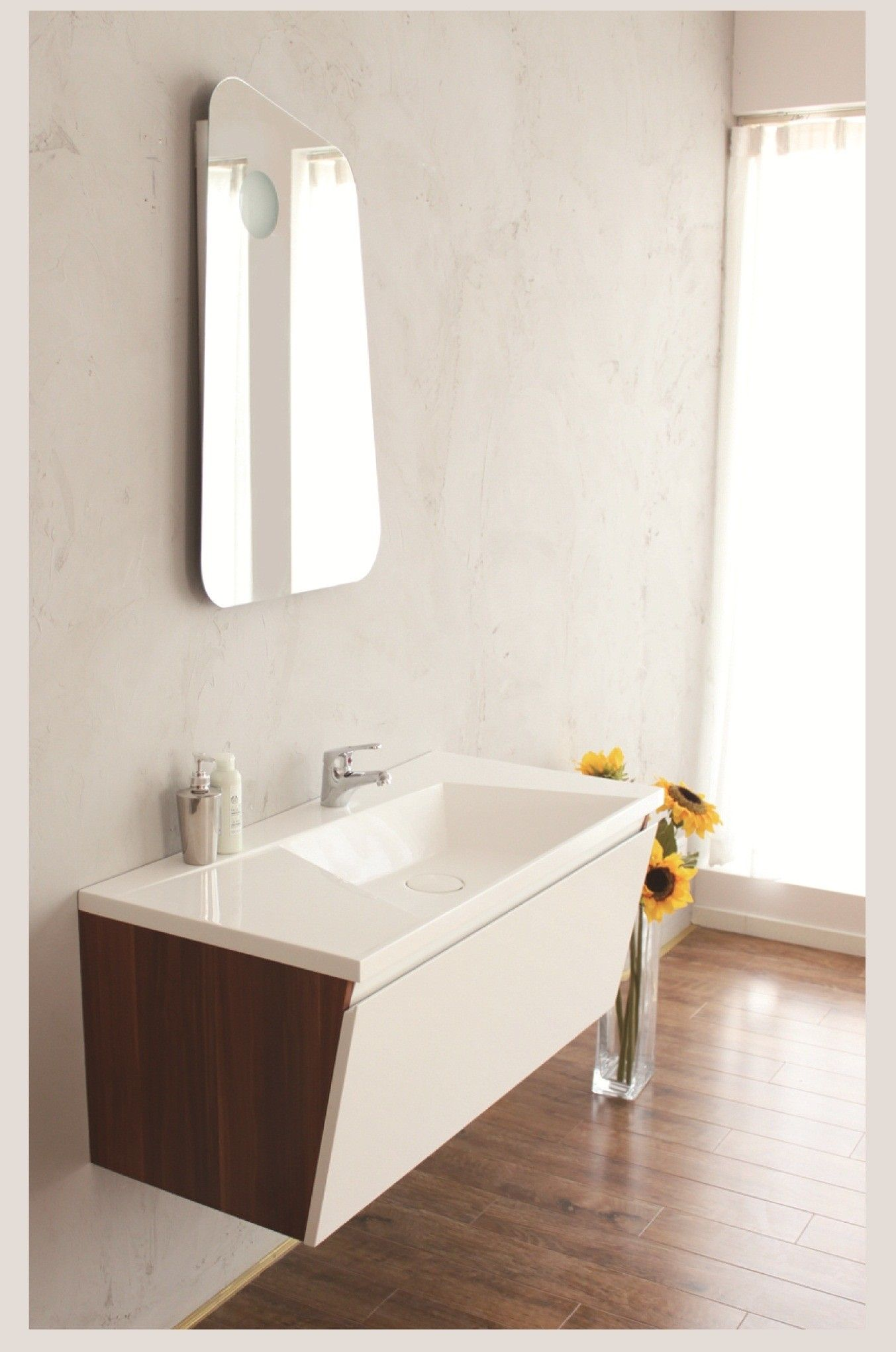 Best Aqua Decor Hara 39 Inch Modern Bathroom Vanity Set White 640 x 480
