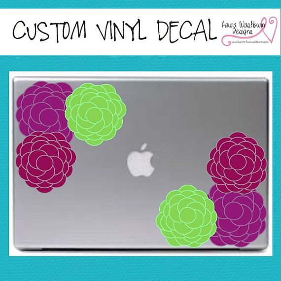 MacbookPC Vinyl Rose Flower Custom Vinyl Decal VinylDecals - Custom vinyl decals macbook