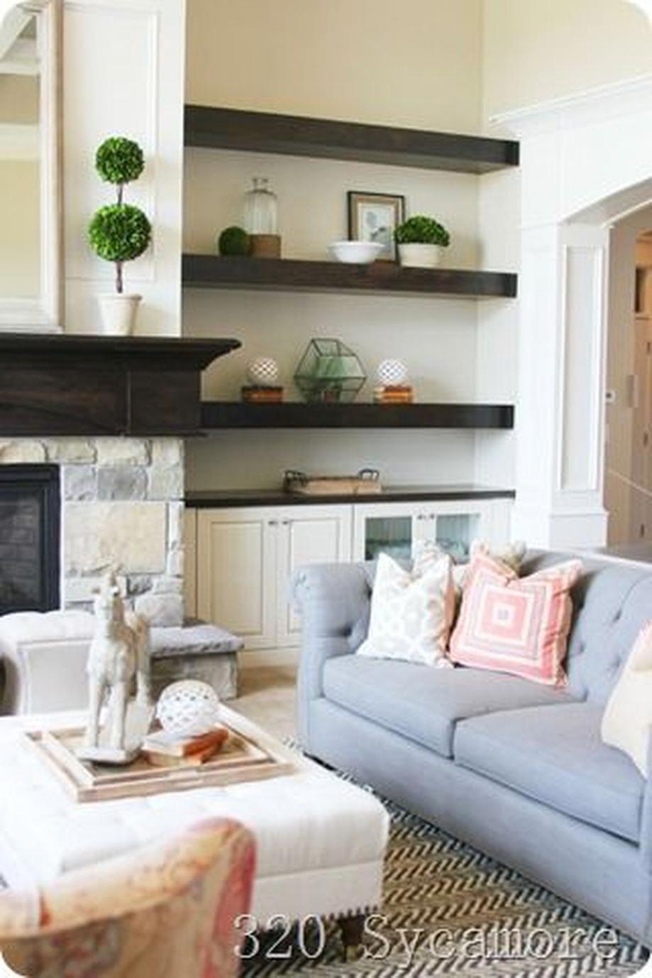 Brilliant built in shelves ideas for living room 1