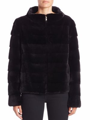 Michael Kors Collection - Horizontal Sheared Mink Fur Jacket