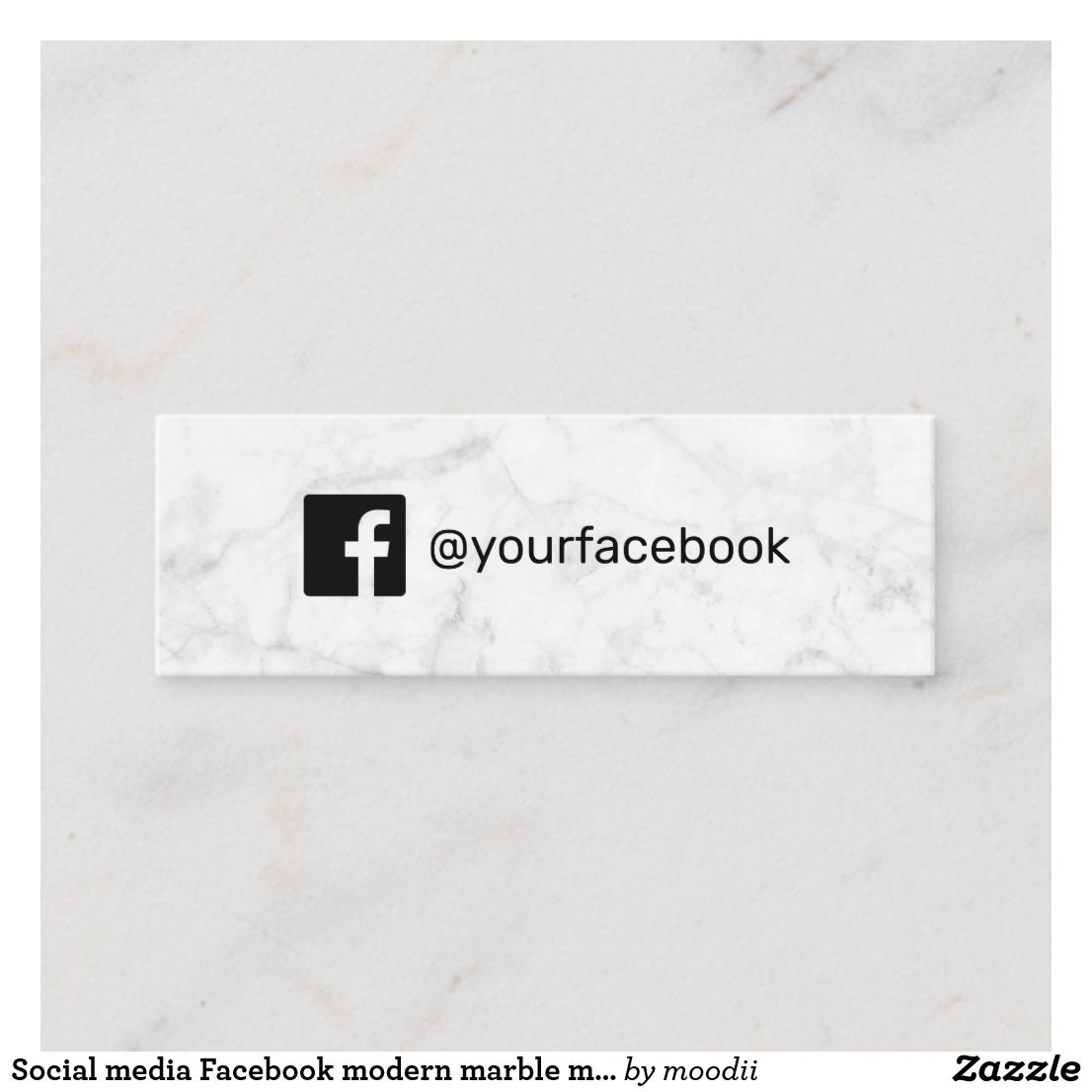 Charmant Social Media Facebook Modern Marble Minimalist Calling Card Calling Cards,  Business Cards, Minimalist,