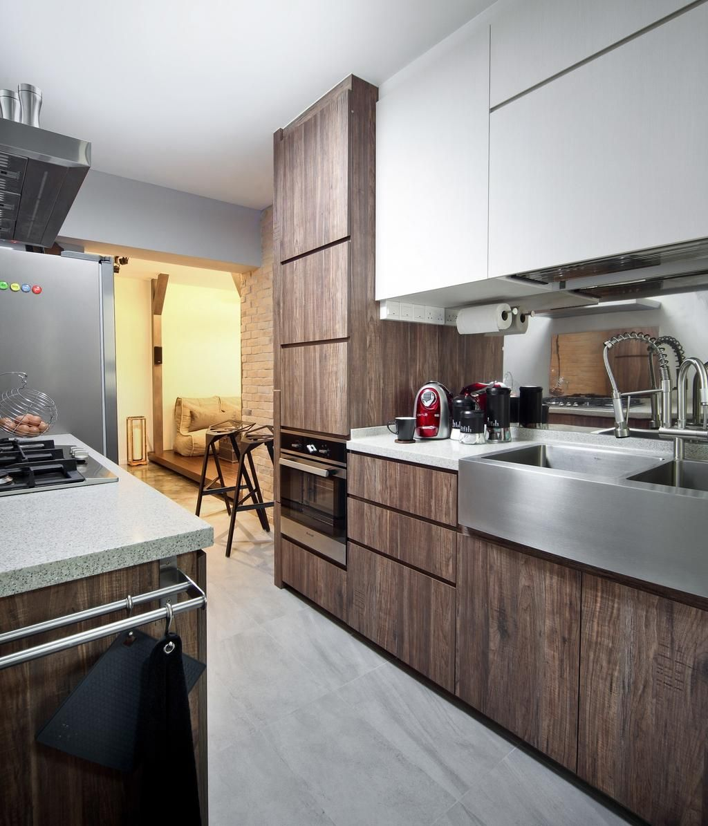 check out this industrial style hdb kitchen and other similar styles on qanvast with images on kitchen ideas singapore id=98499
