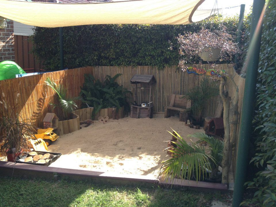 Awesome Beach Themed Sandpit Kids Yard Sand Pit Backyard Plan