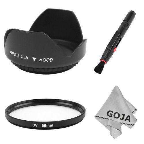 58MM Tulip Flower Lens Hood For CANON T1I XTI XSI XS T2I 50D 500D 450D 550D 400D + 58mm UV Filter + Cleaning Pen + 1 Ultra... $7.99
