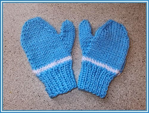 Easy Two Needle Childrens Mittens Mittens Knitting Patterns And