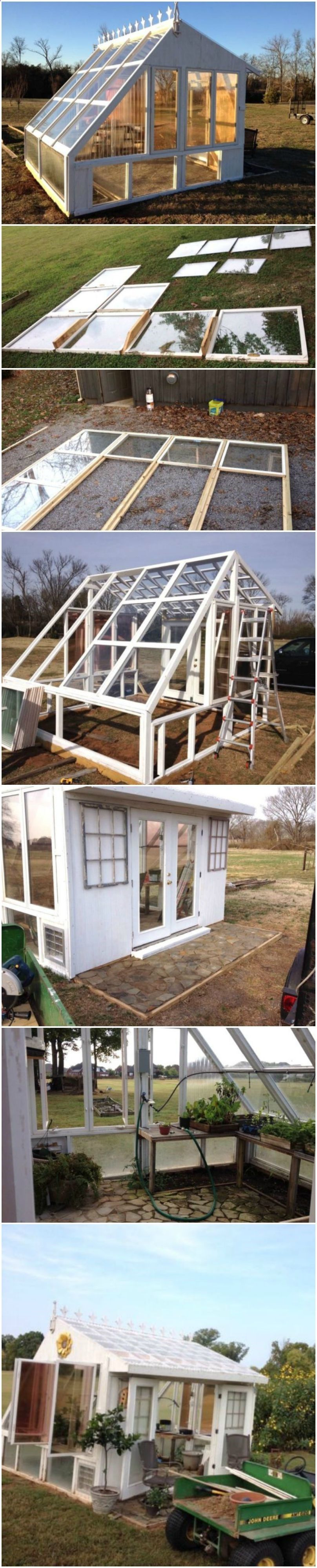 Shed Diy  He Builds A Greenhouse From Old Windows