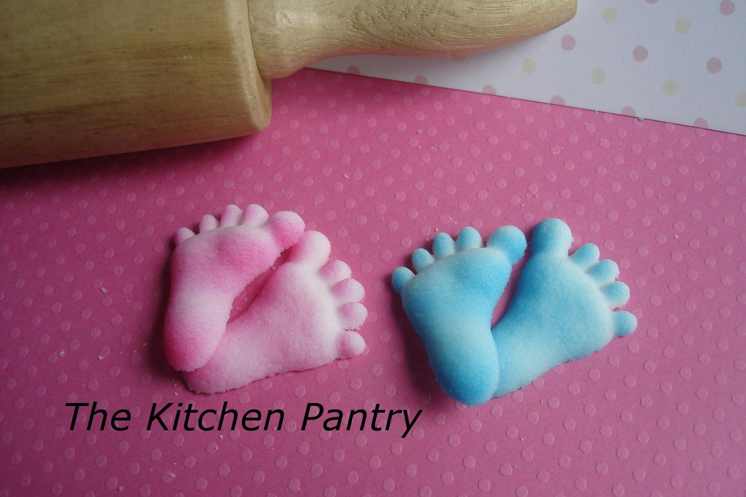 baby feet sugar decorations 12 baby shower edible candy feet blue only voetjes. Black Bedroom Furniture Sets. Home Design Ideas