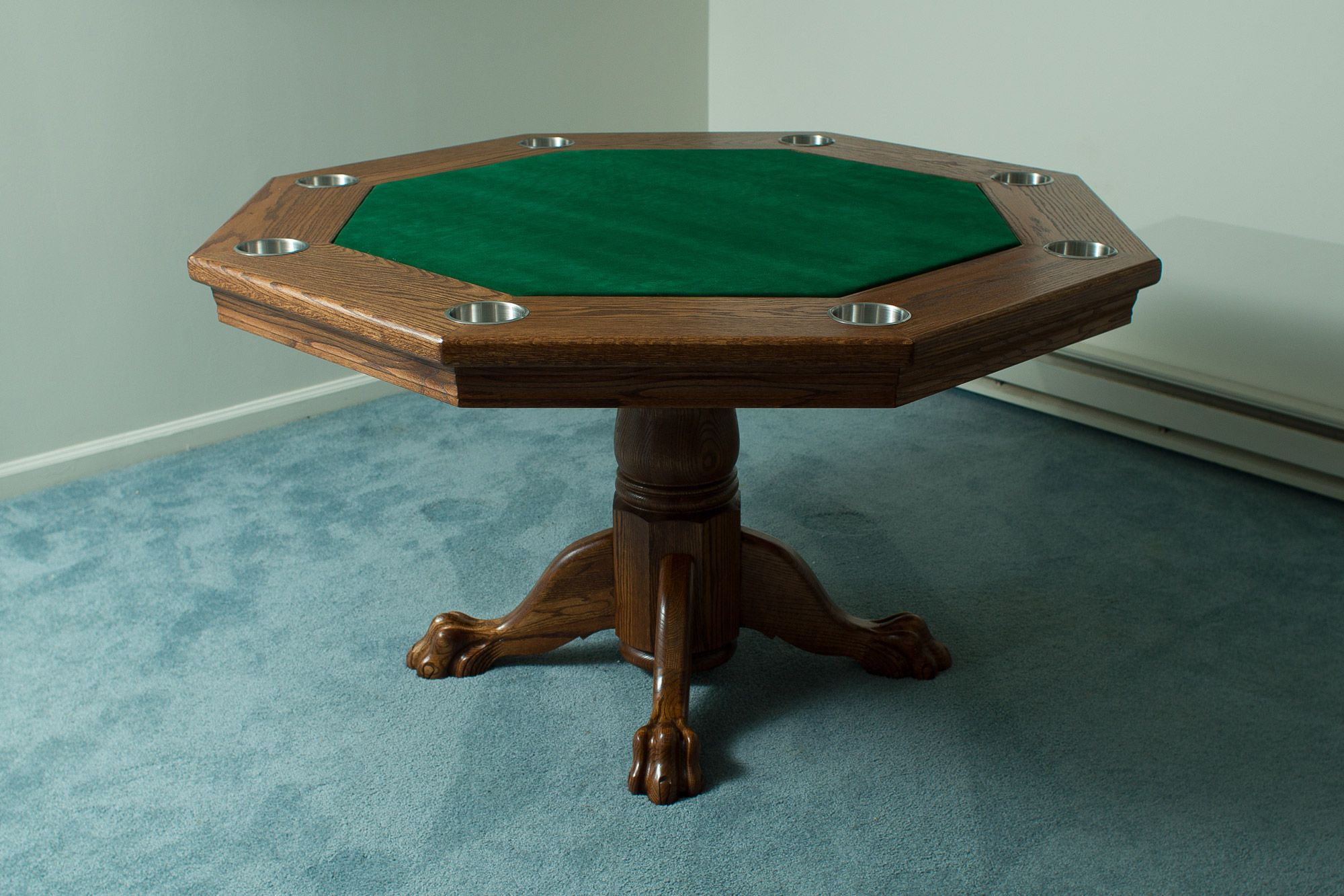 Woodworking Plans Reviewed How To Build A Poker Table Step By Step Instruct Poker Table Diy Poker Table Plans Octagon Poker Table