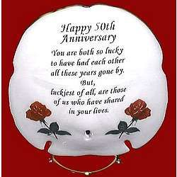 50th wedding anniversary poems musical 50th anniversary sand dollar poem plaque findgiftcom