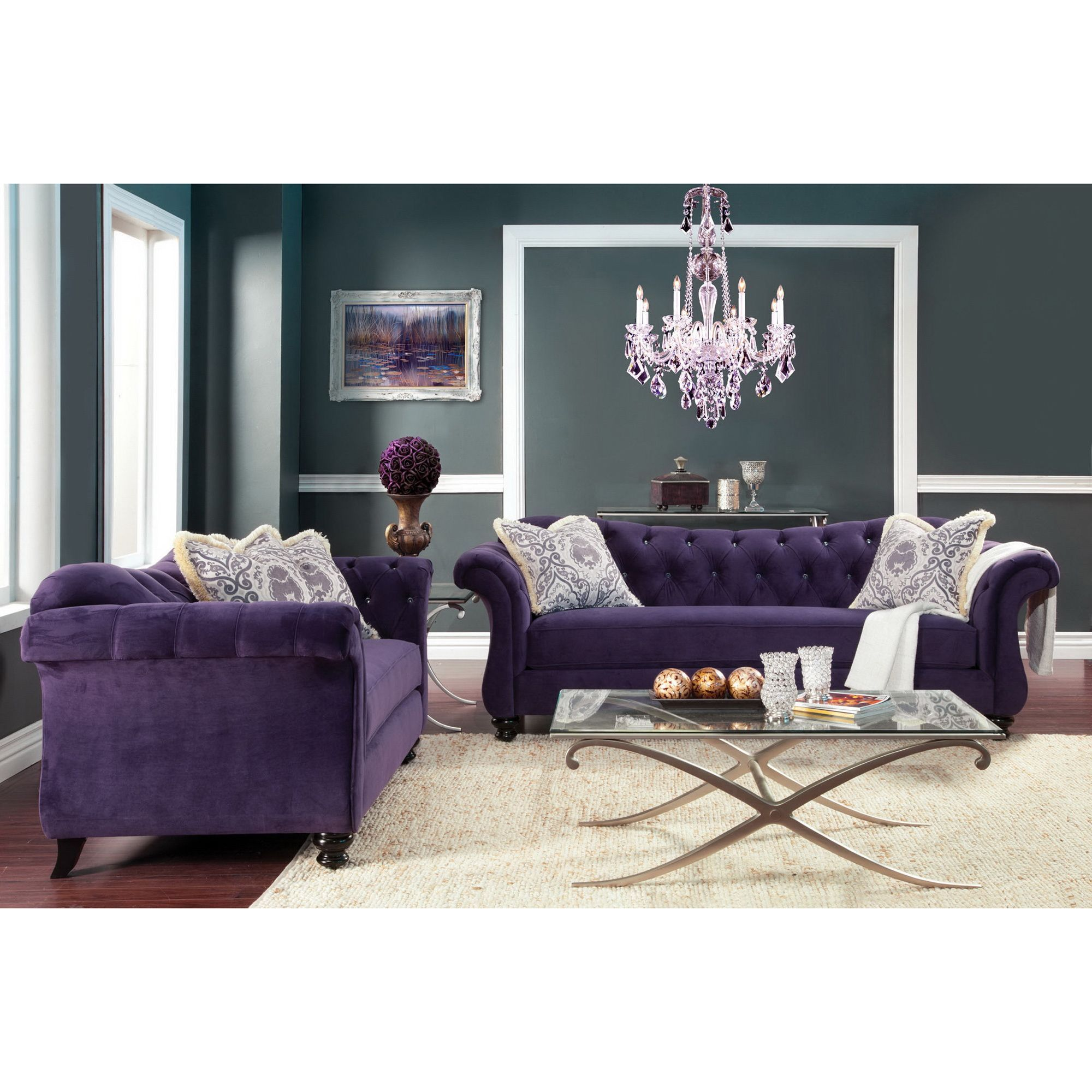 Sofa Set Offer Up This Sofa And Loveseat Set Offers Premium Padded Cushions
