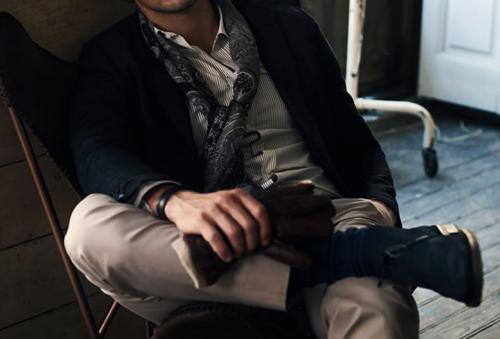 Stylish - what he wears, how he sits...