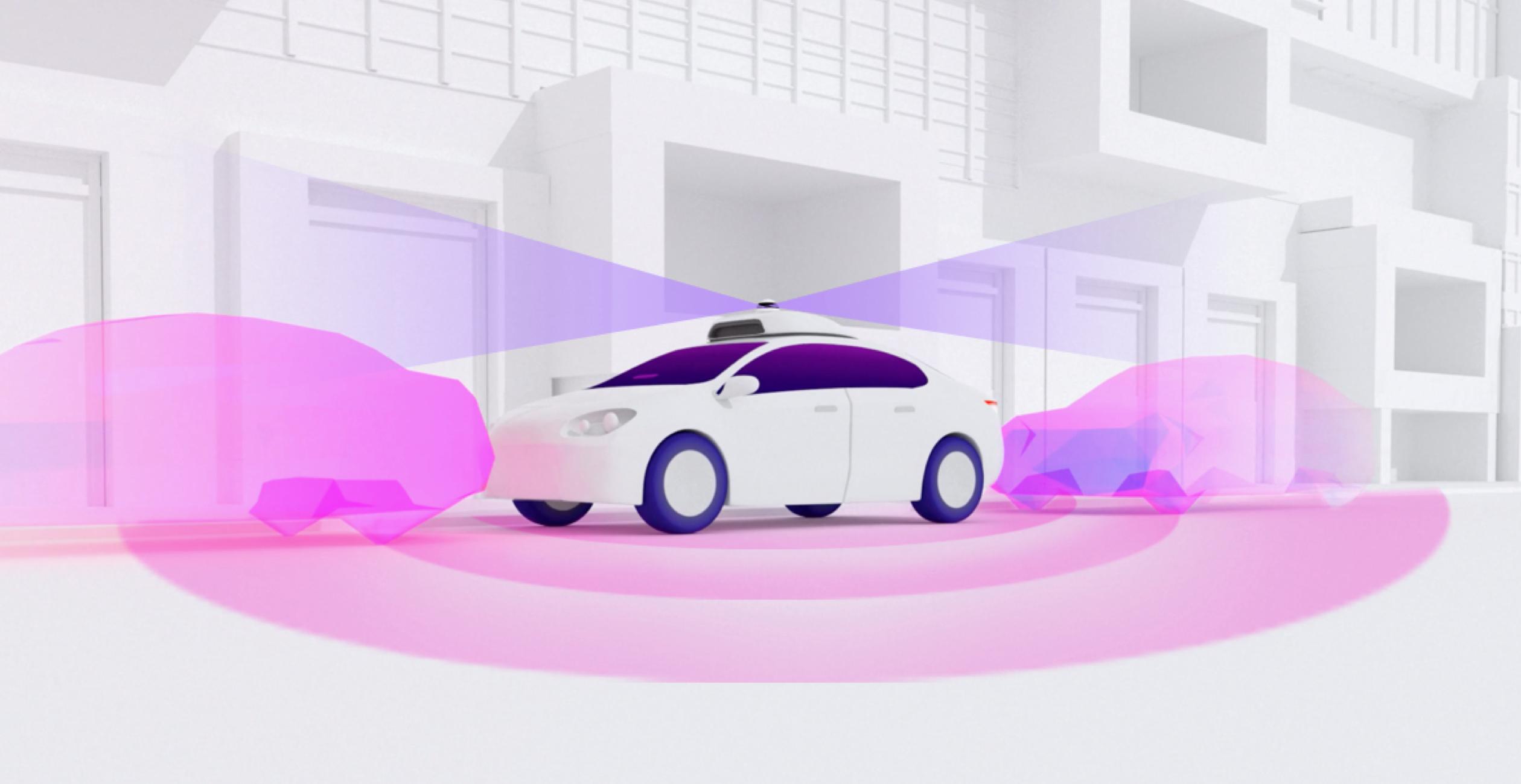 Self driving Lyft vehicle with camera 360 degree camera sensor