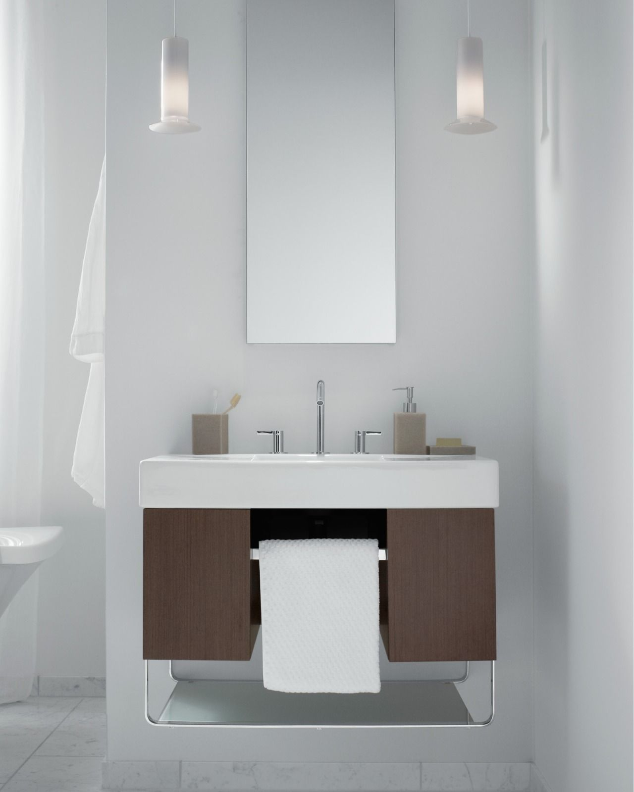 Picture Gallery Website Traverse vanity The bold modular Traverse vanity makes getting organized in the bathroom once and for all a breeze Two main partments separate items
