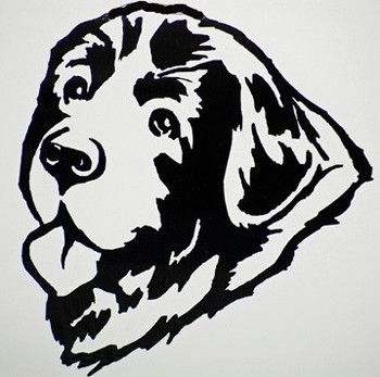 Rottweiler dog Vinyl decal sticker Water bottle// glass etc