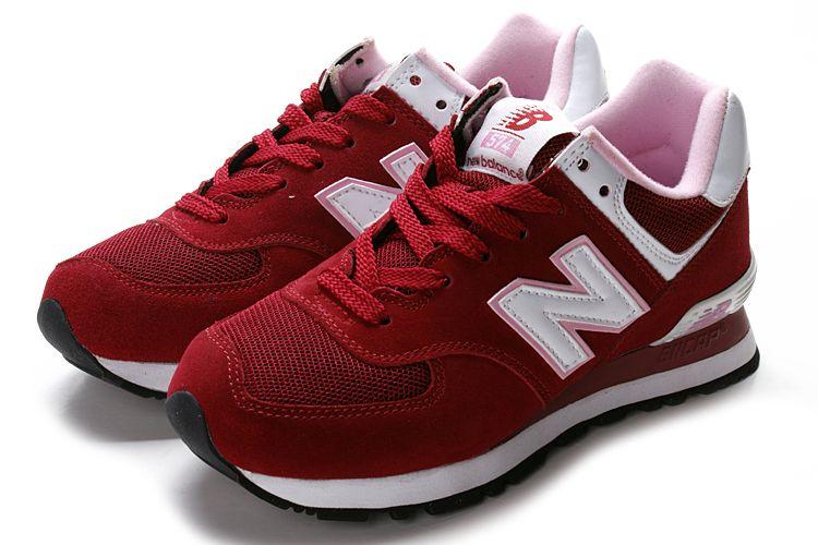 574 new balance mujer rojas