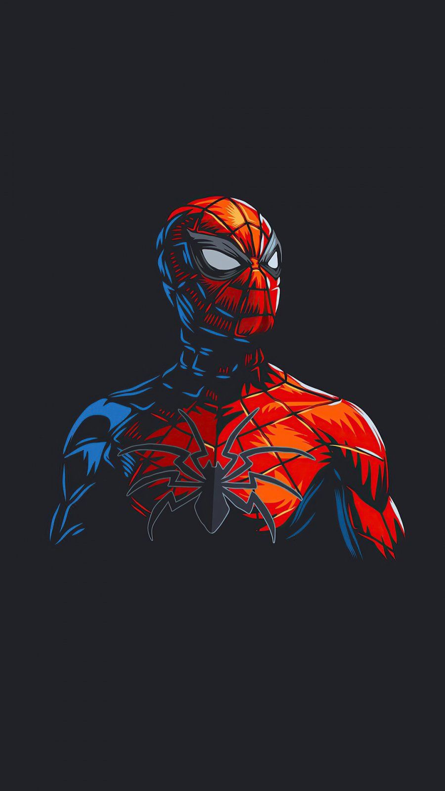 Spider Man Dark Minimalism iPhone Wallpaper - iPhone Wallpapers