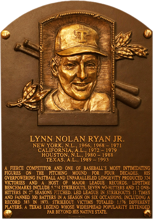 Image result for nolan ryan hall of fame