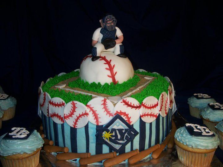 Tampa Bay Rays Themed Birthday Cake. www.divinedessertstampa.com ...