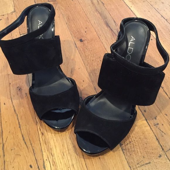 26aa9d4418 Aldo Heels Used and in excellent condition. Faux black suede. Size 6. ALDO  Shoes Heels