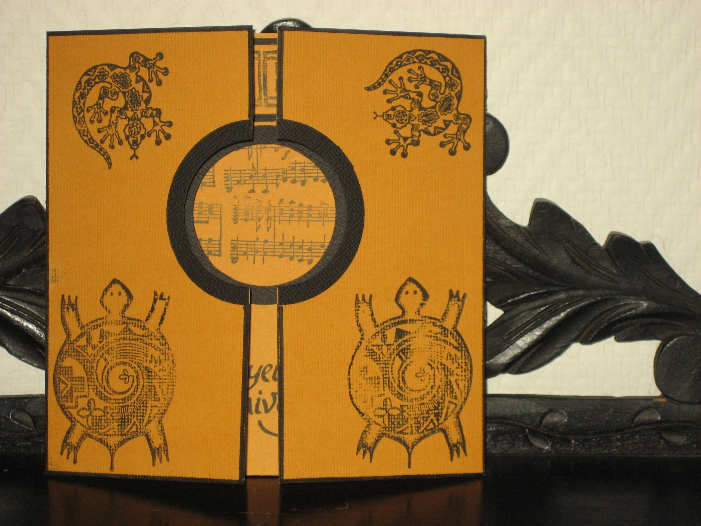 Carte décor aborigène réalisée par Dame souris trotte