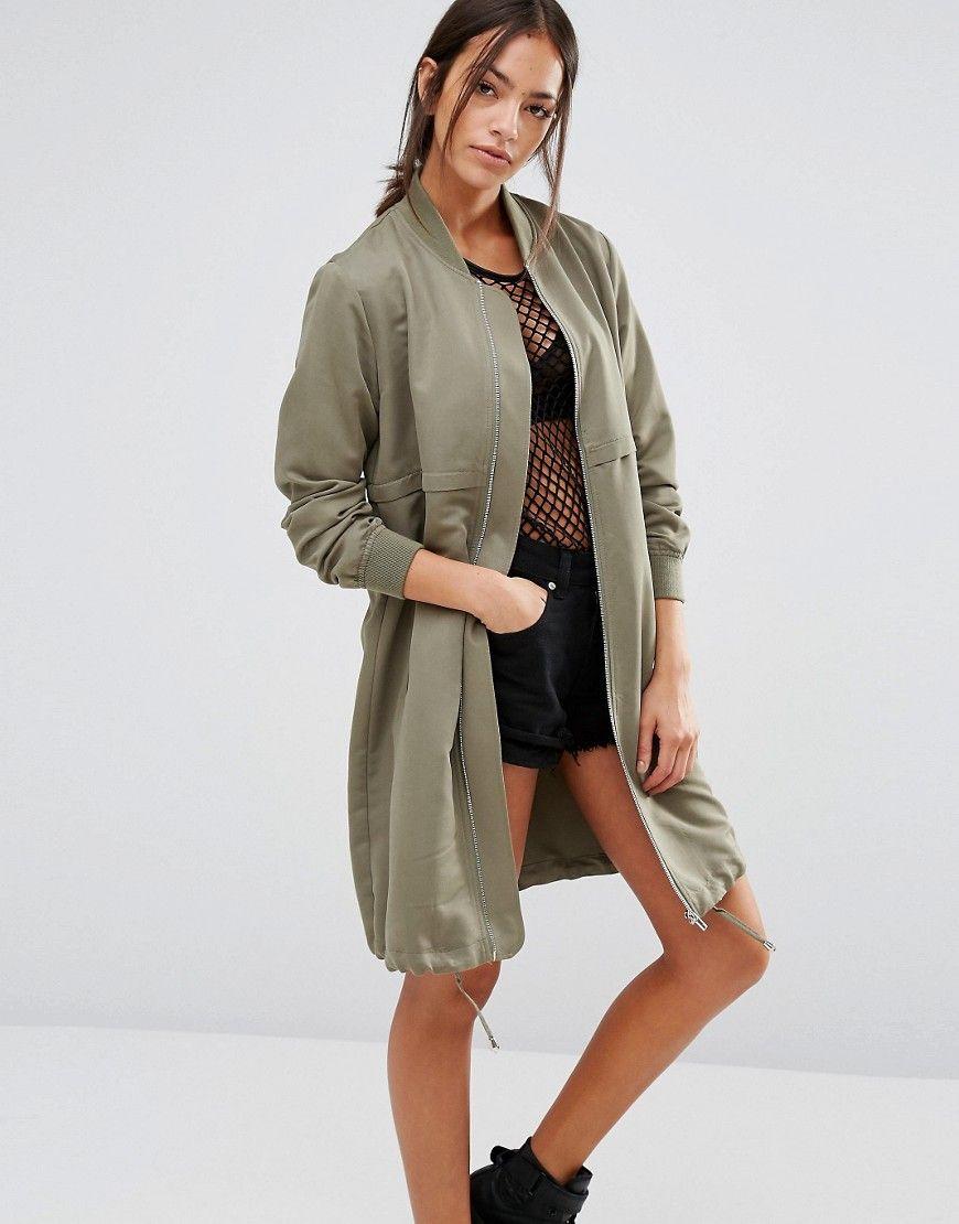 New Look Longline Bomber Jacket Longline Bomber Jacket Bomber Jacket Fashion Womens Spring Coat [ 1110 x 870 Pixel ]